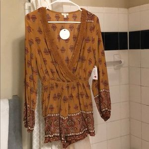 NWT Patterned Romper